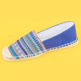 Ethnische Art-Marine-Blau-flache Espadrille-Schuh-Entwerfer-Espadrille-Ebenen