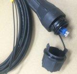 Asamblea a dos caras del enchufe de Fullaxs Overmolded LC, con el cable Gyfjh 2b1 (LSZH), 4.8m m/7.0m m