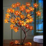 Type solaire lumières rouge-clair décoratives d'arbre de l'érable DEL de Tableau