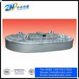 Électromagnétique de levage en forme ovale pour la ferraille en acier