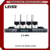 Ls-804 de dubbele Microfoon van het Systeem van de Microfoon van Kanalen Draadloze UHF Draadloze