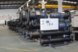 Gemelas compresores de tornillo GSHP para refrigeración y calefacción Chiller