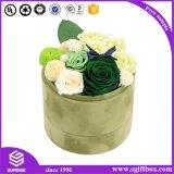Rectángulo de papel redondo de empaquetado impreso de la flor del cilindro de encargo