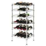 Шкаф вина полки провода рамки металла индикации 2017 ярусов оптовой продажи 5 регулируемый для домочадца