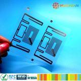 Бирка ярлыка inlay доказательства RFID шпалоподбойки частоты EM4423 UHF NFC двойная