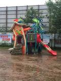Fabrikant van de Speelplaats van de Apparatuur van de Gymnastiek van de Dia van het Pretpark de Openlucht Plastic