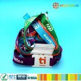 Bracelet de tissu du bracelet tissé par IDENTIFICATION RF NFC du festival de musique NTAG216