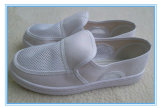 白いESDのクリーンルームの働くズック靴(EGS-PVC-502)
