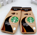 Starbuck Kaffeetasse-Form-nette Silikon-Telefon-Kästen