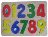 Деревянная головоломка нумерует головоломку шпенька