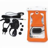 Bolso impermeable del teléfono con el montaje de la bicicleta, el brazal y el auricular impermeable