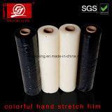 Bon film coloré d'enveloppe de film d'extension de main de la flexibilité 4-200cm LLDPE