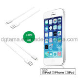 Liso-Linha certificada Mfi 6 pés que iluminam o cabo para o branco de Apple