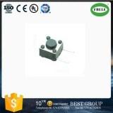 Tast4 Pinwith Schutzkappe RoHS der Druckknopf-Energien-quadratischer Stamm-Takt-Schalter-Drucktastenschalter