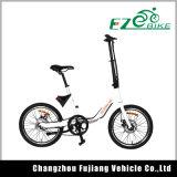 Bicicleta elétrica barata de 20 polegadas da potência verde