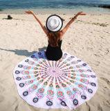 Roundieのテーブルクロス毛布の壁の青いRoswearの曼荼羅のタペストリーの円形の印刷されたビーチタオル