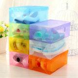 Armazenamento da cor/tipo plásticos transparentes cristal Shoebox gaveta da parte superior