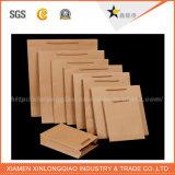 Sacos de papel pequenos personalizados fábrica de Brown da alta qualidade com punhos