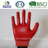 раковина полиэфира 13G с покрынными нитрилом перчатками работы (SL-N112)