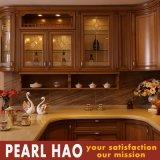 Gabinete de cozinha clássico da madeira contínua do estilo