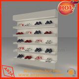 Costumbre alto grado de decoración de interior zapatos de madera estante de exhibición de almacenamiento
