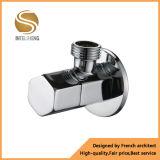Válvula de ângulo de bronze chapeada cromo da aplicação do banheiro