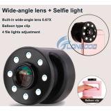 이동할 수 있는 Phone&#160를 위한 광각 렌즈를 가진 새로운 에어백 작풍 클립 LED Selfie LED 반지 빛;