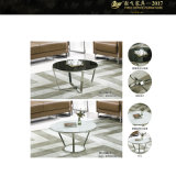 涼しいコーヒーテーブルのコーヒーテーブルの小さい鉄のガラスコーヒーTable9yf-170092t)