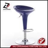 Оптовой самомоднейшей стул Chromed пластмассой низкопробный штанги ABS табуреток Zs-101
