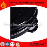 Aplicación de cocina diaria de los utensilios de cocina del uso del esmalte de Sunboat del asador del color pesado grande del negro