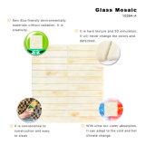 Handschnitt-Baumaterial-befleckten beige Glasfliese-Blätter Mosaik