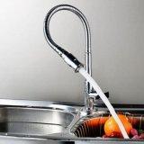 360 degrés tournent le Bibcock en laiton de trou de robinet d'eau de taraud de surface simple Bendable de chrome pour l'argent de la salle de bains etc. de barre de cuisine