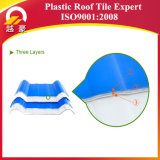 Hoja acanalada anticorrosión del material para techos del PVC del descuento