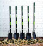 Herramientas de jardín en forma de D de acero forjado de punta cuadrada con pala de fibra de vidrio de la manija