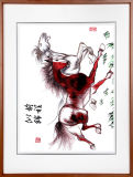 オフィスのための野生の馬の中国の芸術の絵画