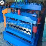機械を形作る鋼鉄屋根瓦油圧押す作成ロールを着色しなさい