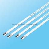 Edelstahl-Kleber-überzogene Strichleiter-multi Widerhaken-Verschluss-Kabelbinder