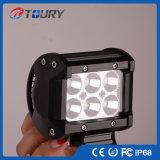 luz campo a través del punto de la lámpara LED del trabajo de 18W LED