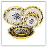 La vaisselle élégante matérielle de modèle de mélamine rustique a placé en vente