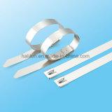 Serre-câble enduit d'acier inoxydable d'Individu-Blocage de PVC d'utilisation facile avec l'OEM