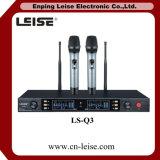 Microfono professionale della radio di frequenza ultraelevata dei canali doppi Ls-Q3