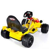 Elettrico Guidare-sul giocattolo Kart giallo Car- (due batteria dei bambini del motore due)