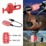 Luzes recarregáveis da bicicleta do diodo emissor de luz do USB