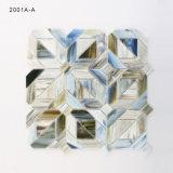 Handschnitt-Fertigkeit-bunte Glasmosaik-Fliesen für Badezimmer-Dekoration