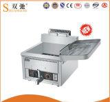 friggitrice profonda elettrica ad un solo serbatoio delle patatine fritte dell'acciaio inossidabile 17L