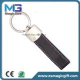 Qualitäts-förderndes Metallleder Keychain mit Decklack-Farben-Plombe