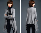 Fashion Viscose Knitted Fringeの女性冬のカーディガン(YKY2065)