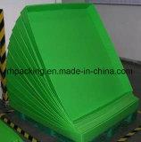 La bandeja plástica verde de los PP con el corte muere PP 2m m de cartón corrugado 3m m 4m m 5m m