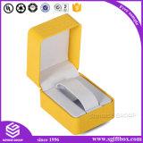 Коробка вахты PU уникально желтого цвета качества кожаный