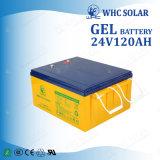Grüne Schleife-Gel-AGM gedichtete Leitungskabel-Säure-Batterie der Energie-24V 120ah tiefe